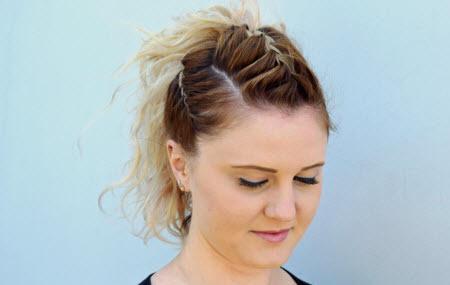 Get the Coachella look ǀ Braided High Ponytail