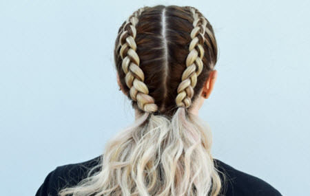 Get the Coachella look ǀ Double Dutch Braids