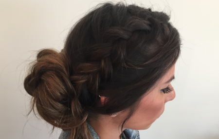 Everything you need to create a Braided Bouffant