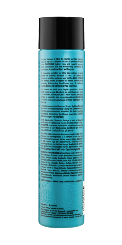 Healthy shampoo back