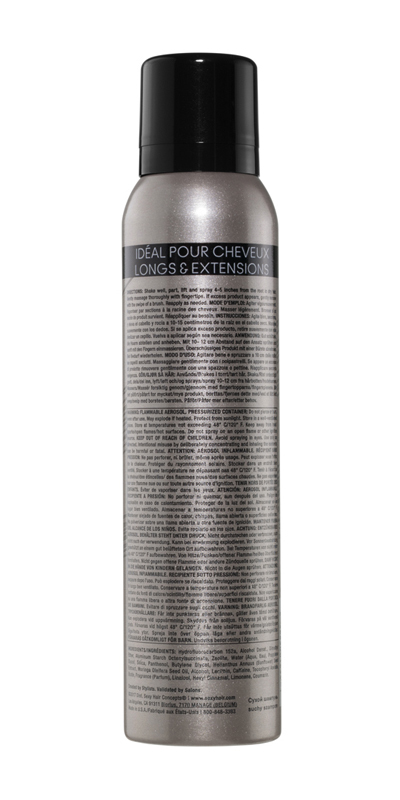 Long dry shampoo back